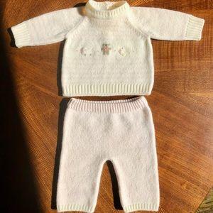 Graziella Merino Wool 2 piece outfit, 0-3 months